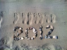 ✅ We made this great photo keepsake on our family vacation to the beach; it's the right foot of each of our 7 family members #BEACH #VACATION