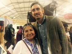 From Twitter: #TarcilaRivera Zea from #Peru and actor @leepace who show his support to #IndigenousPeoples at #COP22#ChirapaqCOP