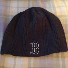 Boston beanie! Grey beanie hat with black & white B. Go Boston!! Used but in great shape! Forty Seven Brand Accessories Hats