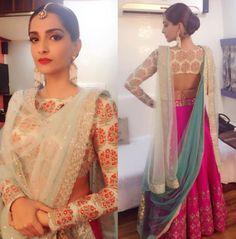 6 celeb sari blouse styles