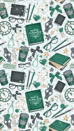 cute | green | books | wallpaper #wallpaperwallpaperscute (wallpaper wallpapers cute)