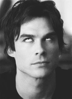 damon salvatore black and white - Szukaj w Google