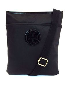2e65f20a0f6d Tory Burch Ella Nylon Swingpack Black Cross Body Bag