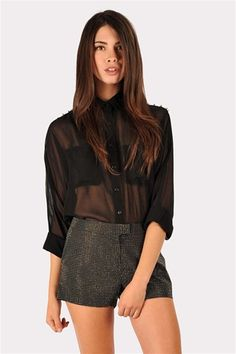 Spike On Your Shoulder Blouse - Black