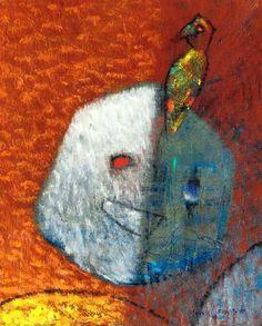 "La Perruche (The Parakeet), by Max Ernst, 1957. Oil on canvas, 10 3/4 x 8 5/8"" (27.3 x 21.9 cm) | Christie's Images, London @"