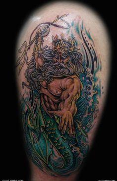 king neptune tattoo - Google Search
