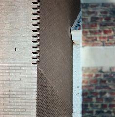 Gallery of Jaax / Atelier Pierre Hebbelinck - 9 Brick Masonry, Brick Facade, Facade House, Brick Architecture, Architecture Details, Interior Architecture, Brick Bonds, Brick Detail, Brick Texture