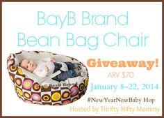 http://thriftyniftymommy.com/2014/01/bayb-brand-bean-bag-chair-babies-giveaway-newyearnewbaby.html