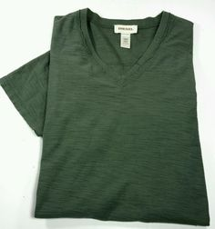 New! DIESEL Industry- Olive Green Cotton CrepeV-Neck FITTED Fashion Tee- L/XL | eBay