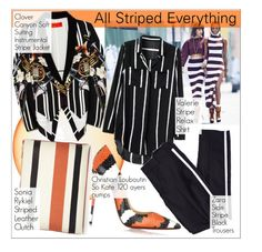 """All Striped Everything"" by martso ❤ liked on Polyvore featuring Seletti, Clover Canyon, Christian Louboutin, stripes and allstripedeverything"