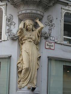 A caryatid in Vienna, Austria