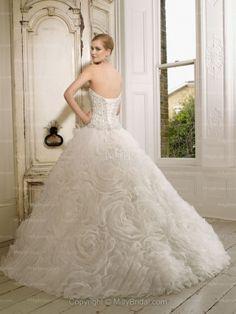 Ball Gown Sweetheart Beading Organza Wedding Dress