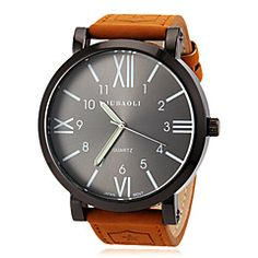 reloj de los hombres grandes de línea número romano militar ... – USD $ 10.99