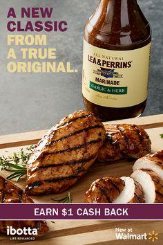 Lea & Perrins® Marinade Offer on Ibotta Turkey Recipes, Pork Recipes, Grilling Recipes, Cooking Recipes, Marinade Sauce, Good Food, Yummy Food, Chicken Marinades, Meals