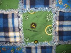 Country Western John Deere Baby Rag Quilt  by JJandCompany on Etsy, $70.00