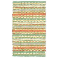 LR Resources Altair Jade Multi Rectangle 8 ft. x 10 ft. Cotton Reversible Area Rug-LR03348-JD810 - The Home Depot
