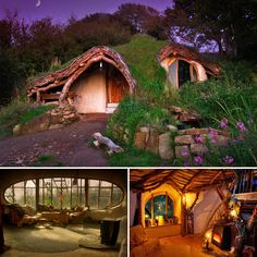 An earthship home Maison Earthship, Earthship Home, Casa Dos Hobbits, Underground Homes, Earth Homes, Natural Building, Green Building, Cob Building, Little Houses