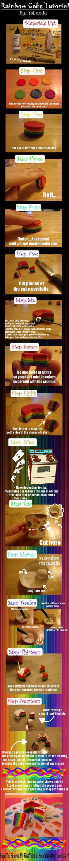 Tutorial: Miniature Rainbow Cake