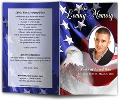 freedom funeral program template design patriotic military memorial service programs