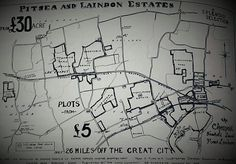 Map of the original Estates offered for sale in Pitsea and Laindon, 1906.