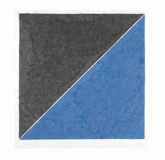 Ellsworth Kelly, Colored Paper Image XV (Dark Gray and Blue)