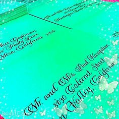 Sloop calligraphy script underway ✉ ☺ #Calligraphy #script #2015weddings  #wedding #weddingideas  #weddinginspiration  #calligraphyenvelopes #nationwidecalligrapher  #CalligraphybyJennifer