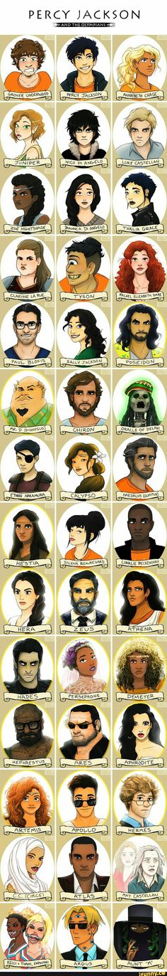 Percy, Jackson, Characters