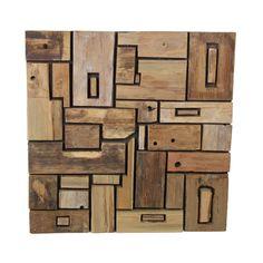 Nástěnná dekorace z teakového dřeva HSM Collection Deco Texture, Wood, Crafts, Collection, Bedroom, Art, Manualidades, Woodwind Instrument, Timber Wood