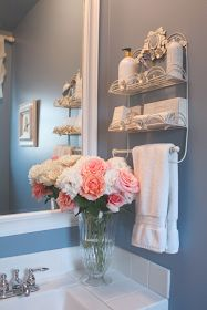 My Romantic Home: Bathroom Color - Show and Tell Friday