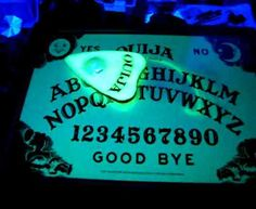 DIY moving Ouija board. Perfect for the opening room in a haunted house. It could spell out the disaster that awaits and the guide can read it.