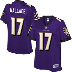 Mike Wallace Baltimore Ravens NFL Pro Line Women's Player Jersey - Purple