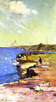Sir Arthur Ernest Streeton (Australian, 1867 – 1943) 'The Blue Pacific', 1890
