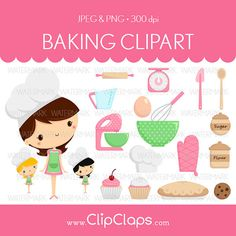 Baking Clipart  Cake Cupcake Bakery Bake Cooking by ClipClaps, $4.00 ..bulletin board?