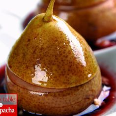 Nut-filled Pears Baked in Red Wine - So unique and delicious. #kosher   www.kosher.com