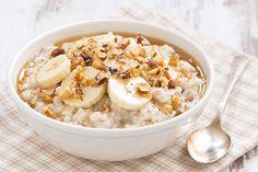Sweet banana oatmeal havermoutpap recept, Fitness Meiden blog