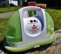 Bissell Little Green $99 - ProHeat Portable Steam Cleaner - Living in our RV Full Time means we need compact, lightweight appliances to take along with us. One piece of equipment that's been a great addition to the RV cleaning arsenal is the Bissell Little Green Portable Steam Cleaner. - - - http://loveyourrv.com/bissell-little-green-portable-steam-cleaner-review/