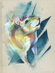 Rat by nuances-curieuses on DeviantArt Animals And Pets, Cute Animals, Strange Animals, Rat Queens, Rat Tattoo, Fancy Rat, Cute Rats, Pet Portraits, Traditional Art