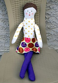 doll pattern    If life was like a cupcake: love me dolly ~ tutorial w/ pattern