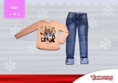 Colección fin de año 2015 - Buzo y jean niña. Más información en www.travesuras.com.co