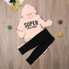 Buy Solid Full Sleeves Pink Hoodie and Pant Set online @ ₹770 | Hopscotch Pink Fashion, Hoodies, Sweatshirts, Outfit Sets, Adidas Jacket, Toddler Girl, Hooded Jacket, Girl Outfits, Sweatpants