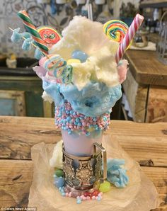 This is the rainbow extreme milkshake trendy out of Birmingham, England.