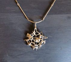 f9a968462ba Juhls Brutalist Sterling Silver Necklace by DuncanGrantAntiques