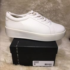 Lift up casual style with a chic platform in the classic fashion of STEVEN by Steve Madden's Haris sneakers.It has 1-1/2'' platform. New, never tried-on or worn.