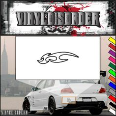 Twisted Ghost Flames Car Decal - Vinyl Decal - Wall Decal - CF221