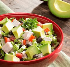 Avocado Salad Center I Avocados From Mexico Salad Recipes Healthy Lunch, Avocado Salad Recipes, Easy Salads, Healthy Salad Recipes, Summer Salads, Avocados From Mexico, Homemade Honey Mustard, Party Food Platters, Rice Salad