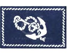 Rope border with centered anchor, perfectly nautical. Washable Rug sized Coordinates with our Knotty Buoy quilt specifically and all nautical bedding too. Nautical Rugs, Nautical Bedding, Coastal Rugs, Clean Bedroom, Nursery Rugs, Baby Boy Nurseries, Rug Hooking, Throw Rugs, Woven Rug