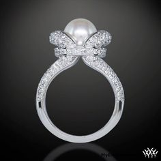 diamonds and pearl engagement ring – Awsome - My Engagement Ring