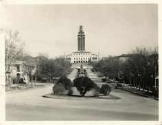 The UT Tower was build as part of the new Main Building on The University of Texas at Austin and stands at 307 feet or 27-floors.