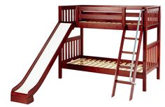 Maxtrix Medium Bunk Bed w/ Ang. Ladder and Slide (Twin/Twin)