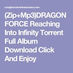 (Zip+Mp3)DRAGONFORCE Reaching Into Infinity Torrent Full Album Download  Click And Enjoy